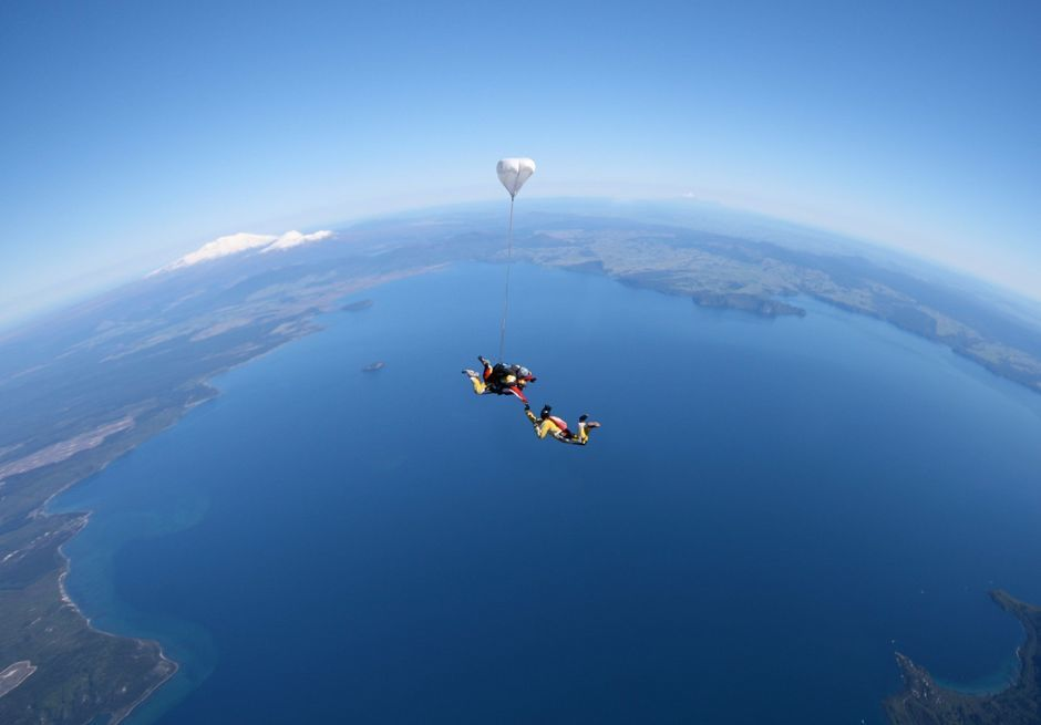 Skydiving over Great Lake Taupo