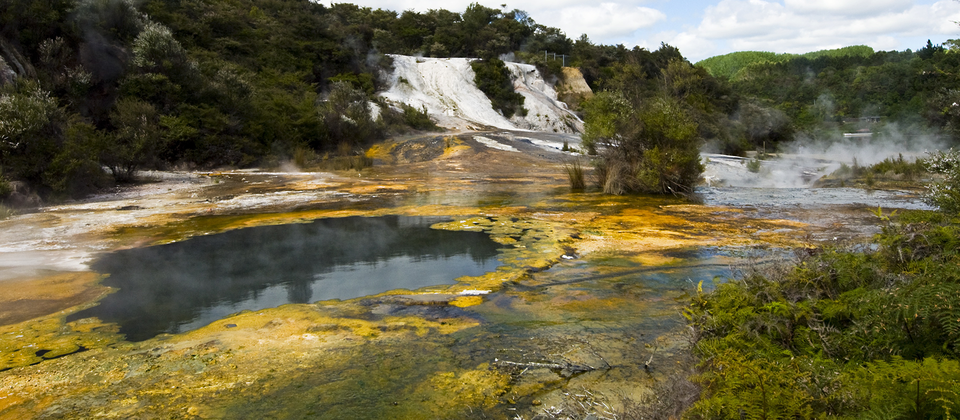 Sillica terraces at Orakei Korako geothermal park