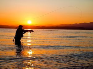 Fly fishing Great Lake Taupo