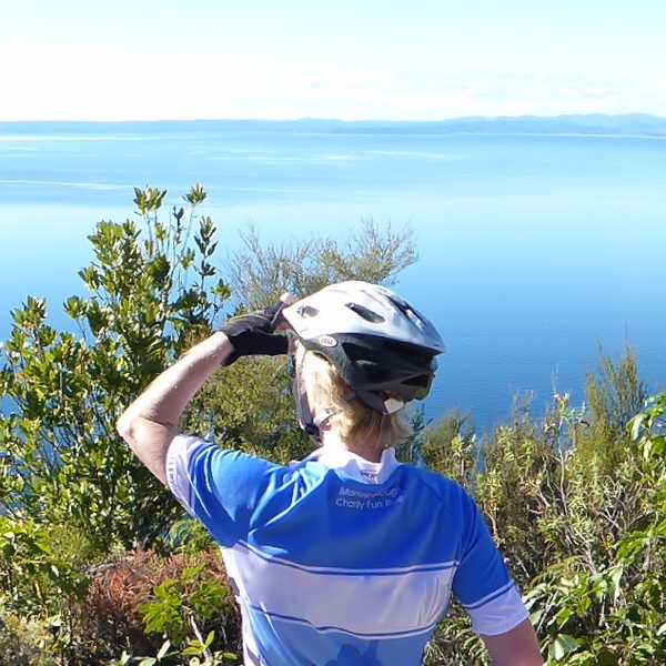 The stunning Great Lake Trail follows the shores of beautiful Lake Taupo, New Zealand's largest lake.