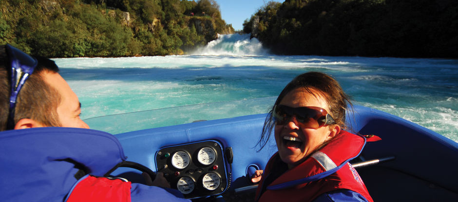 If you prefer your scenery with a large dash of action, catch a jet boat ride to the base of Huka Falls.