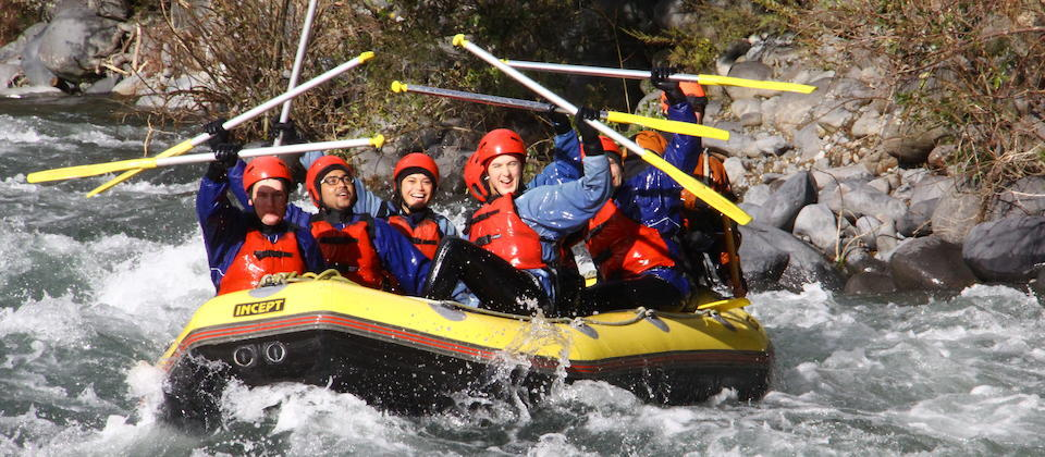 Rafting on the Tongariro River