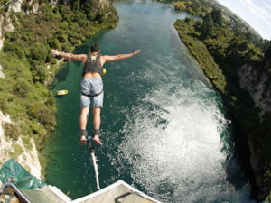 Bungy in Lake Taupo