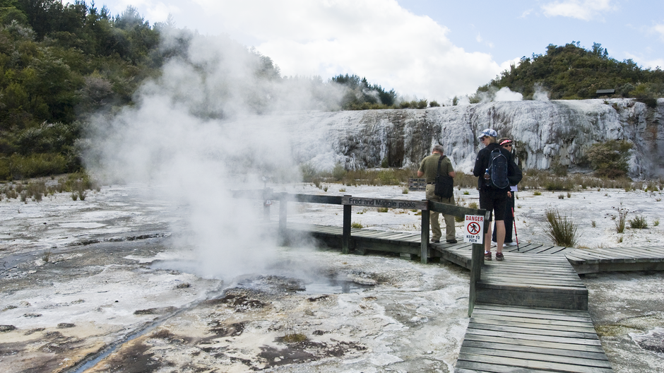 Silica terraces, bubbling mud pools and steaming vents - it must be Rotorua!