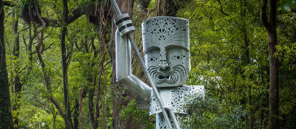 The Whatonga sculpture on the Manawatu Gorge track.