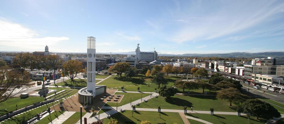 The Square is the heart of Palmerston North City and is home to i-SITE Palmerston North
