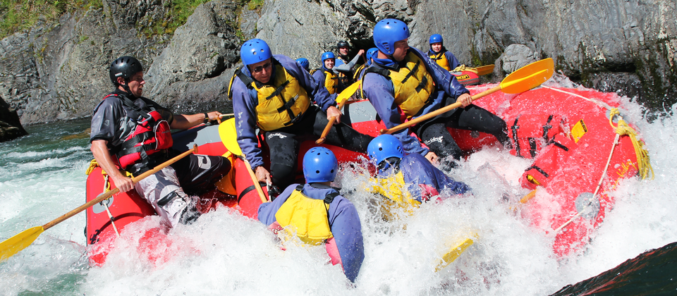 White water rafting on the Rangitikei River