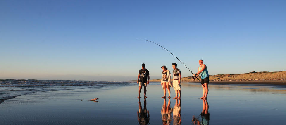 Fishing at Himatangi Beach