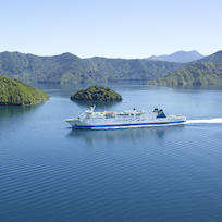 Aratere cruising Marlborough Sounds