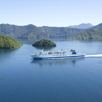 Aratere cruising through the magestic Marlborough Sounds