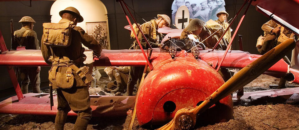 The Red Baron's death scene at Omaka Aviation Heritage Centre