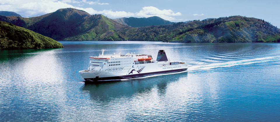 Interislander Ferry, Marlborough Sounds