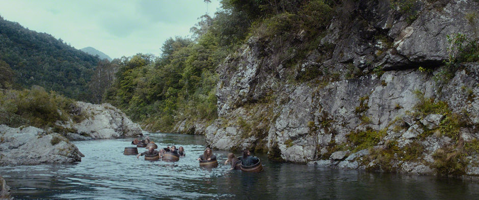 Barrel scene filmed on the Pelorus river.