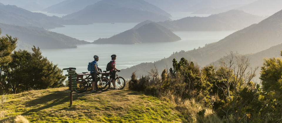 Cycling the Queen Charlotte Track, Marlborough Sounds