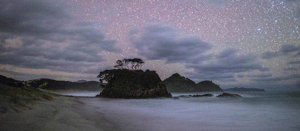 Great Barrier Island by night