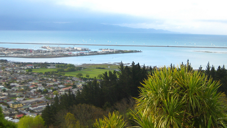Coastal views from the Centre of New Zealand walk.