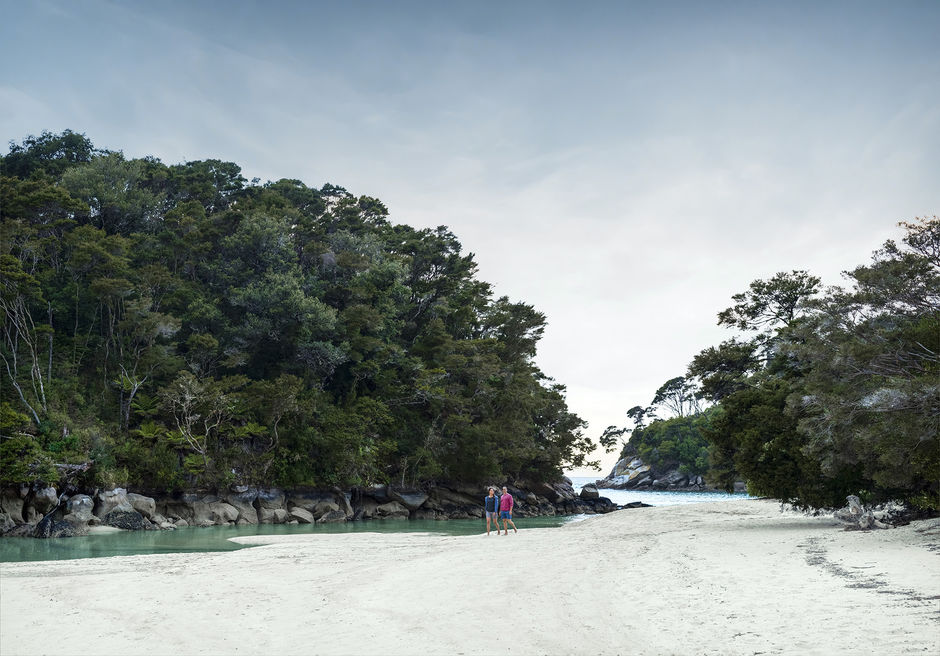 Walking the beaches of Abel Tasman National Park