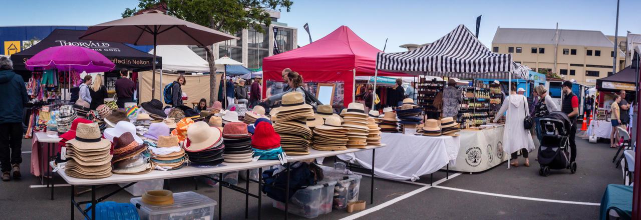 Market Stalls at Nelson Saturday market