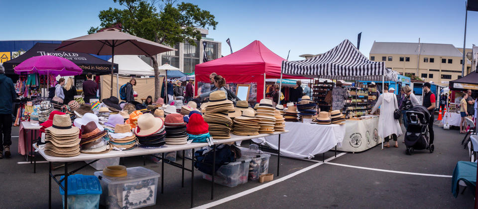 Market Stalls at Nelson Saturday market