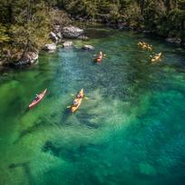 Kayaking in the Abel Tasman National Park's glistening waters with views of golden sand beaches is an unsurpassed experience.