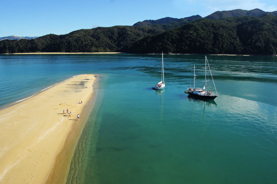 Gourmet Sailing's yachts in Abel Tasman National Park