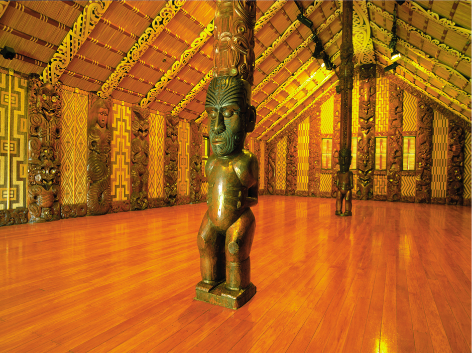 Step inside the carved meeting house at Waitangi Treaty Grounds