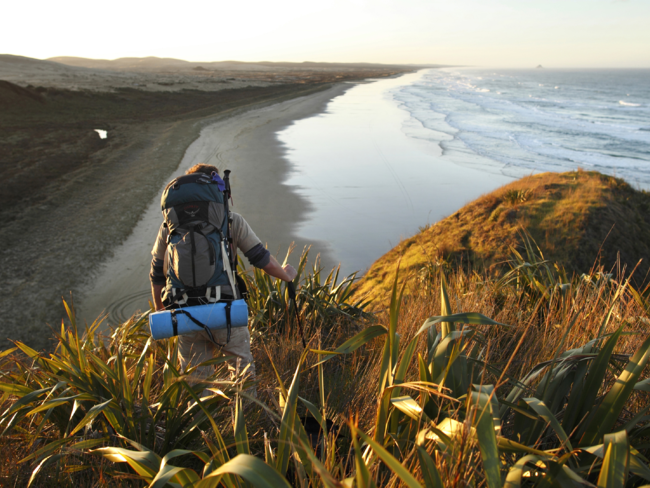 Ninety Mile Beach is part of the Te Araroa Trail, one of the world's longest walking routes.