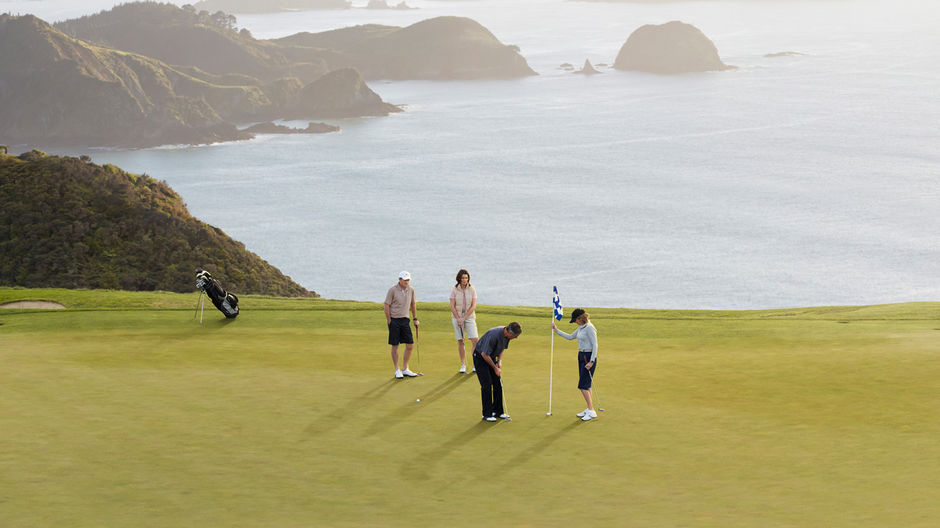 Experience sweeping ocean views from Kauri Cliffs Golf Course
