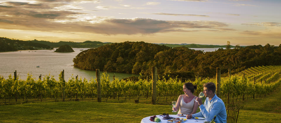 Located in the Bay of Islands, Omata is a stunning location on a sheltered hilltop with wonderful views across the vines to the bay.