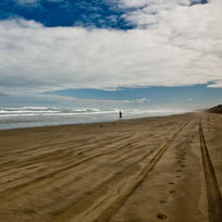 Endless 90 Mile Beach in the far North is a short drive from Kaitaia.