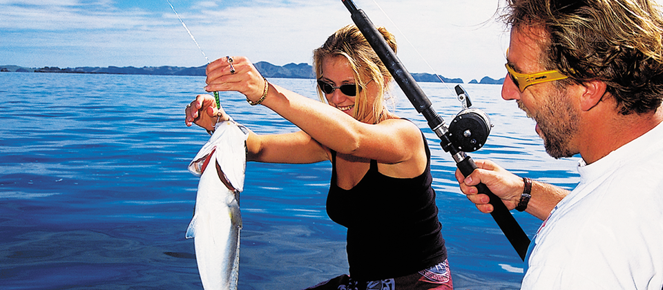 Sea fishing in the Bay of Islands