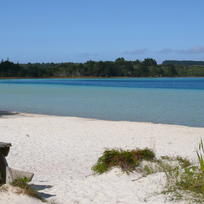 The crystal-clear Kai Iwi Lakes are popular with kiwi holidaymakers.