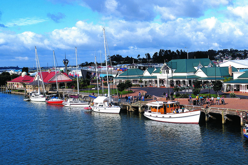 Whangarei's Town Basin is filled with cafes, restaurants and arts and crafts.