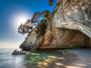 Cathedral Cove on the Coromandel Peninsula.