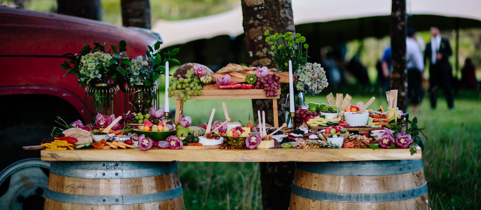 Our wedding planning services have been designed to include everything you want & need to ensure a seamless, stress-free & totally awesome wedding. Like this beautiful grazing table by Platter & Graze.
