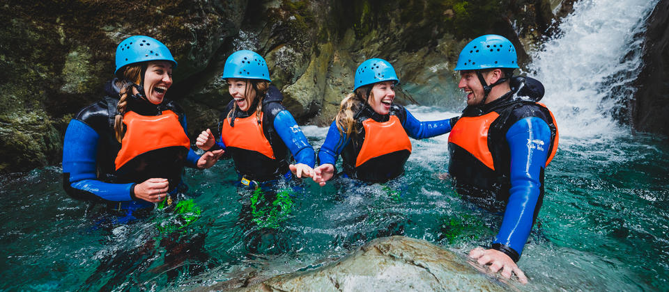 Routeburn group canyoning.jpg