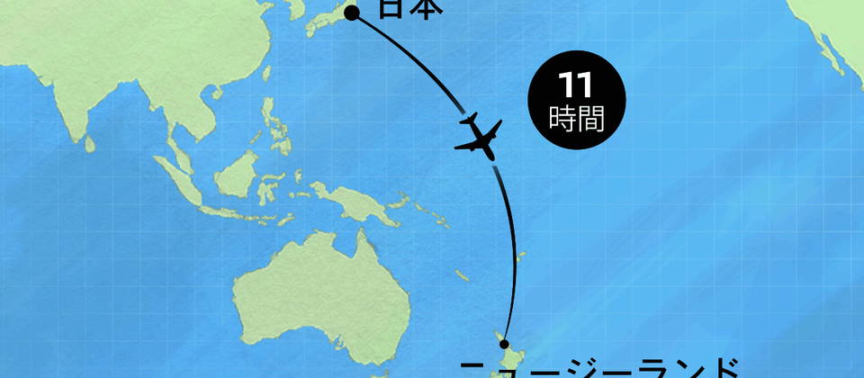Flight map Japan - mobile