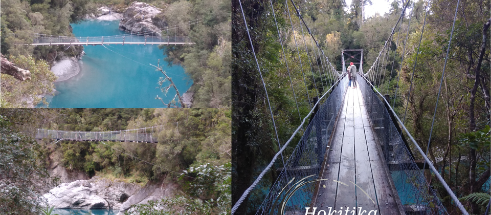 Time stands still at the blue green waters of rock sided Hokitika Gorge