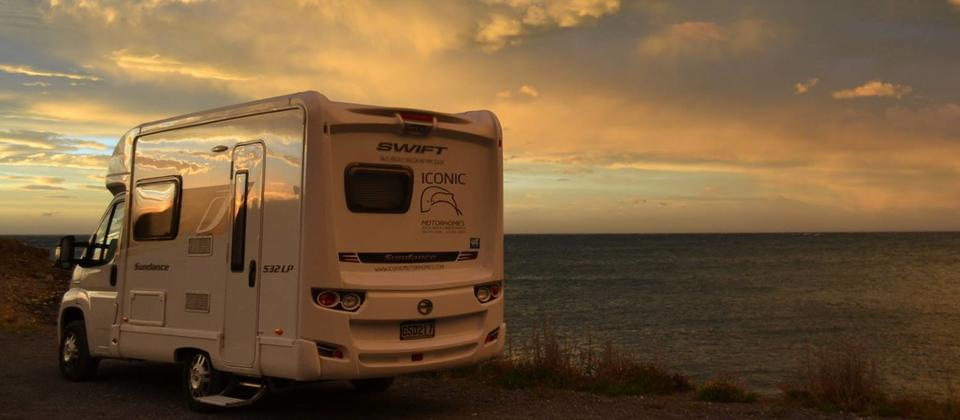 Park up and enjoy a sunset from your self contained camper-van.