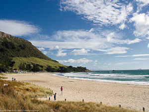 Mount Maunganui is a swimming and surfing mecca, popular with locals during the summer months.