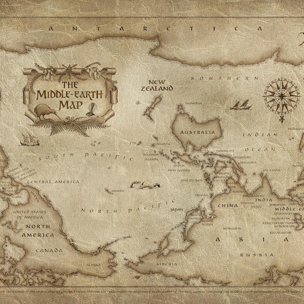 The Middle-earth map
