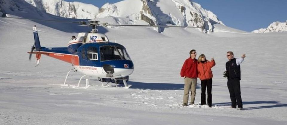 Heli-Hiking on the West Coast glaciers