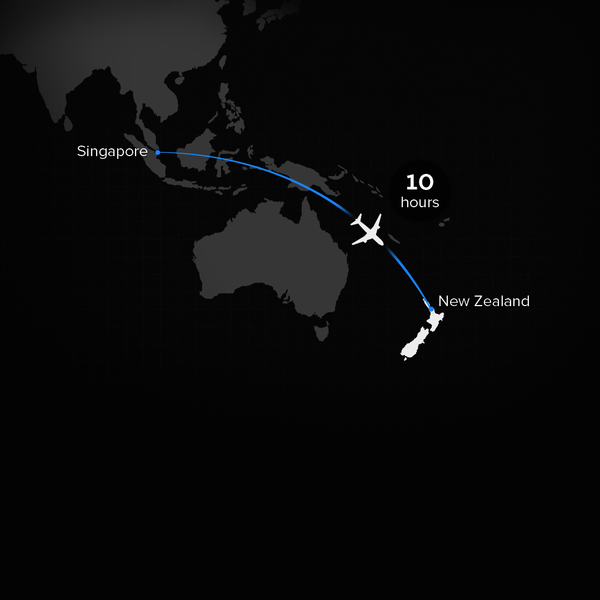 Flights to New Zealand from Singapore