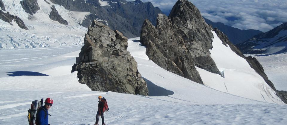 Learn contemporary mountaineering skills and glacier travel.