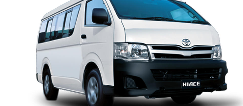 Toyota Hiace 10 Seat Van from $99 per day.