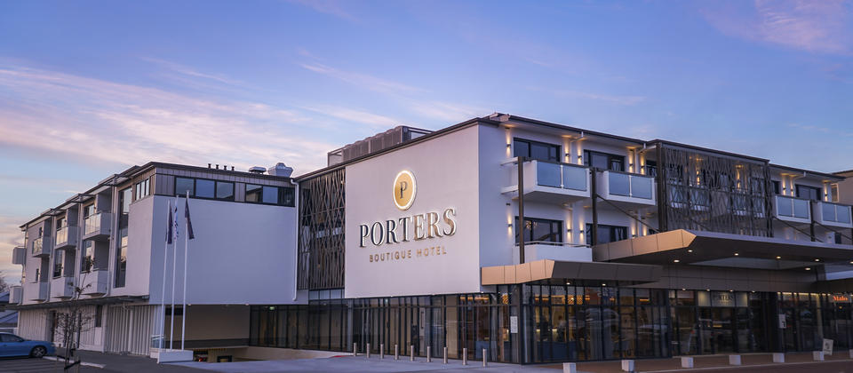 Porters Boutique Hotel at Dusk