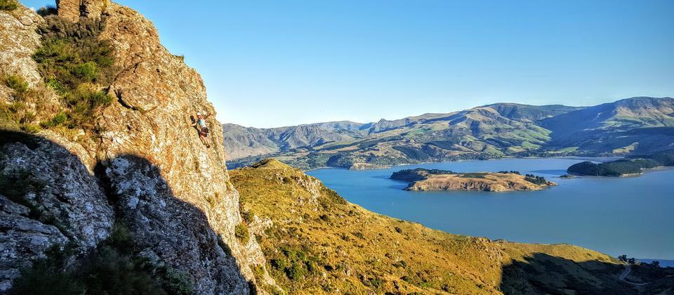Rock climbing, Christchurch - Adventure by Nature