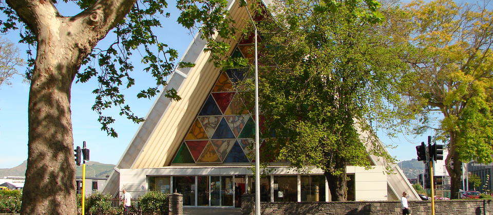 The Transitional Cardboard Cathedral. Temporary Cathedral built after the Christchurch Earthquakes in 2011.