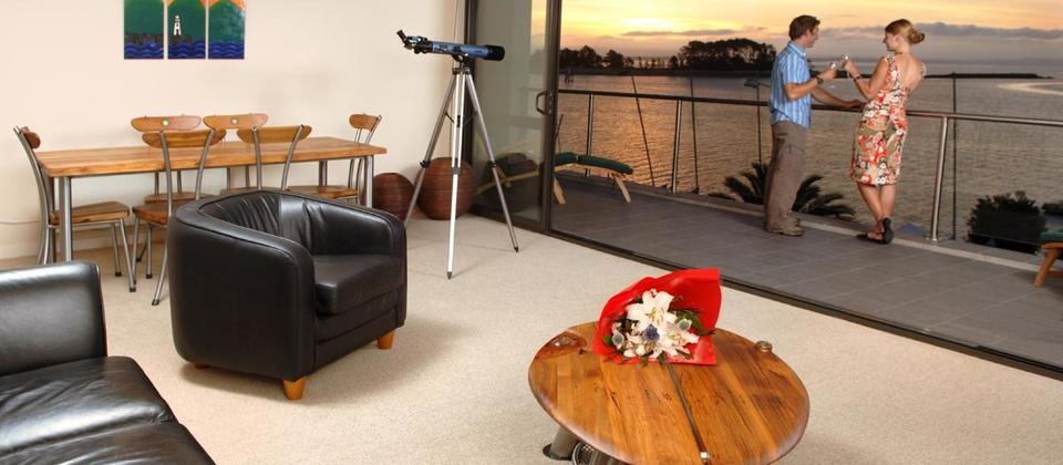 Relax in spacious apartments while on holiday in NZ.