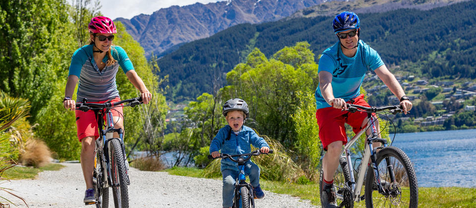 Family adventures along the  cycle trail